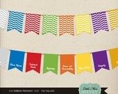 INSTANT DOWNLOAD, Young Women Value Ribbon, Pennant, Printable