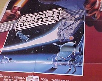 Empire Strikes Back FC 1990 vintage Star Wars Movie 1 sheet 1sh Poster Style A  27x41 Rare