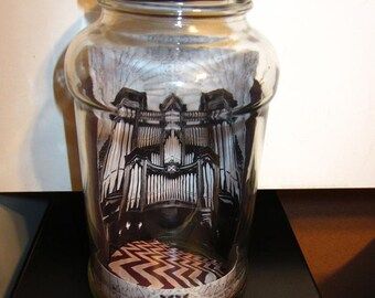Pipe Organ Cathedral Decorative Glass Jar