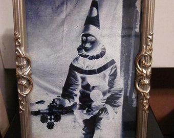 1940's Clown framed