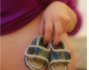 INSTANT DOWNLOAD - Crochet Baby Sandals - Crochet baby summer sandals - Crochet pattern