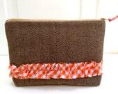 wool zipper pouch