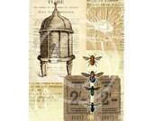 Vintage Bee Hive II - Printable Wall Art 8x10
