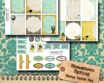 Steampunk Scrapbook and Journaling Cards