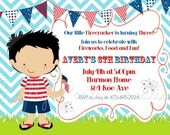 LITTLE 4th JULY BOY invitation - You Print