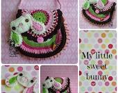 My little sweet bunny - crochet pattern, purse, DIY