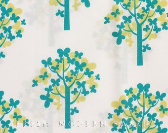 Half Yard Just Wing It Trees in White, Momo for Moda Fabrics, 100% Cotton Fabric