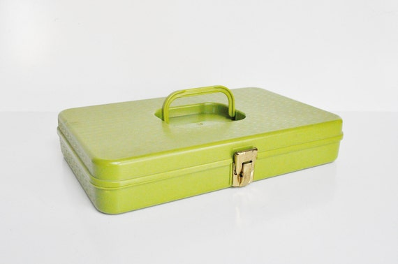 Avocado Green Sewing Box