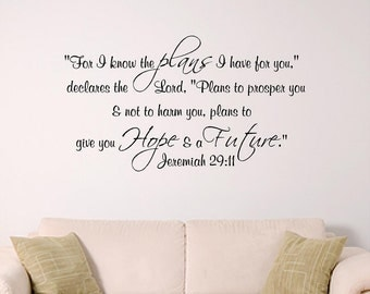 Gods plans for you home wall decal,