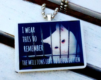 Shelter Cat Remembrance Pendant