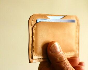 Leather card holder - Little wallet with pocket for credit card - Card holder - Italian leather - Credit card holder