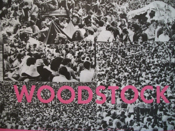 Free shipping rare original woodstock poster 1969 sale for Original photography for sale