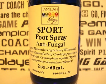 SPORT Foot Spray - Organic Hydrosols & Essential Oils Calm Irritation, Itching, Feet Fungus, Rids Odor, Soothes - Sneaker Feet, Foot Spray