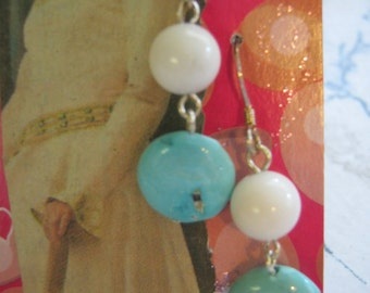 White Mountain Jade and Turquoise Earrings