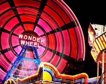 Wonder Wheel, Photography, Photo, New York, NYC, Coney Island, City, Beach, Amusement Park, Fun, Family