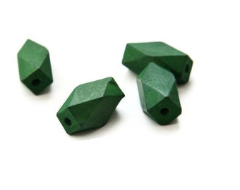 Green wooden beads, geometric green beads wood beads, W 70 005