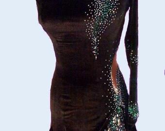 Black Dance Latin Dress from Velvet