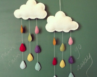 Mini rainbow rain with white cloud for nursery, playroom or children's room 1 CLOUD ONLY