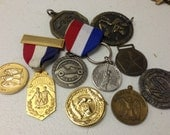 SALE Military Medals Tokens Awards Ribbons Vintage Lot 46