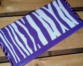 SALE: Zebra Print Duct Tape Wallet