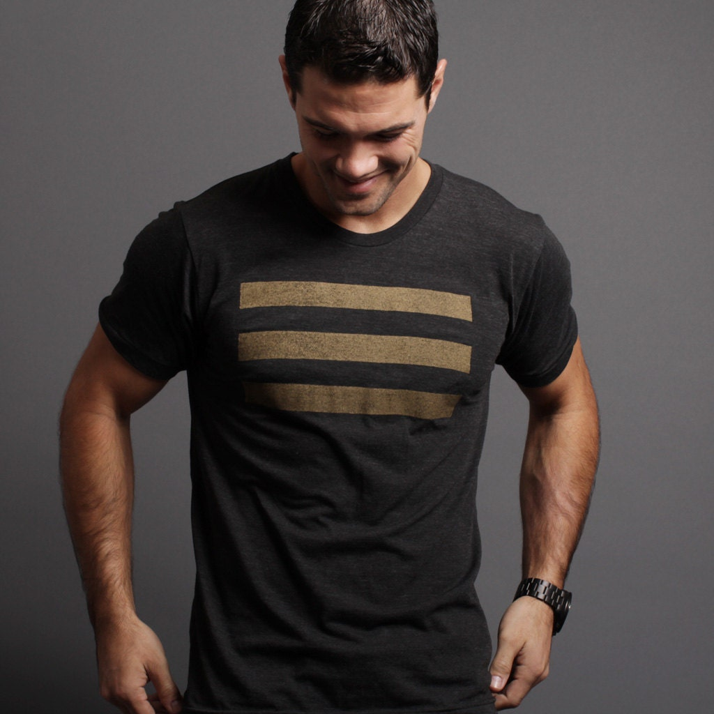 Black T Shirt For Men Black And Gold Naval By Weareallsmith
