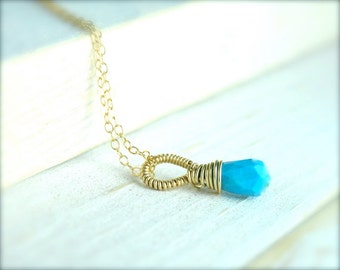 Turquoise Bridesmaid Necklaces/Dainty Gift Ideas/Something Blue Bridesmaid Gift Ideas