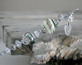 Cake Tester, Excellent Gift, Pale Green Lampwork