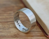 Personalized Pure and Simple Ring - silver band, anniversary ring, wedding band, male wedding ring, partner ring, promise ring