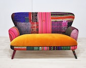 Patchwork sofa - sweet honey