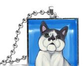 Grey and White Cat Necklace - Original Design