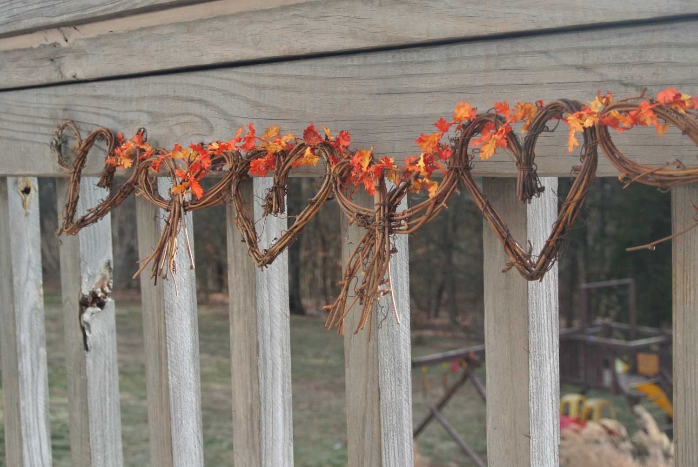 fall wedding garland vine yard wedding decor hen party. Black Bedroom Furniture Sets. Home Design Ideas