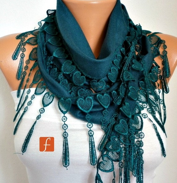 Emerald Green Heart Pashmina Scarf, Spring Scarf,Cowl Scarf,Gift Ideas For Her, Women Fashion Accessories, Bridesmaid Gift,Mother's Day Gift
