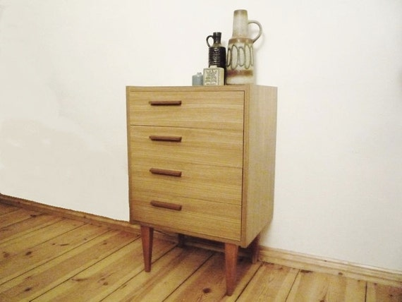 Mid Century German Small Chest of Drawers