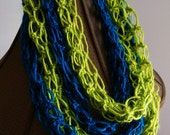 "Crochet ""Thin""finity Scarf - You Choose Color"