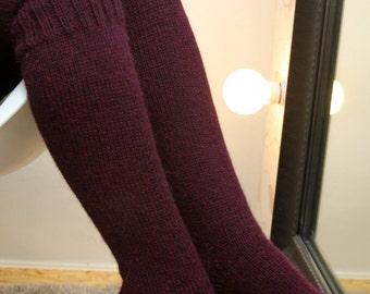 Boot socks,  knee socks, simple and elegant. 100% alpaca