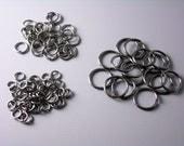 Mixed Gunmetal Open Jump Rings - 100 pcs