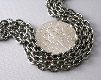 Sale 30% off - CHAIN-GMTL-4MMx2.5MM - 10-Foot 4mm x 2.5mm Textured Gunmetal Plated Chain