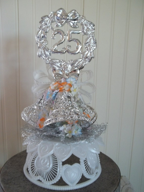 ViNtAgE 25th Wedding Anniversary Cake By Blissfulfinds On Etsy
