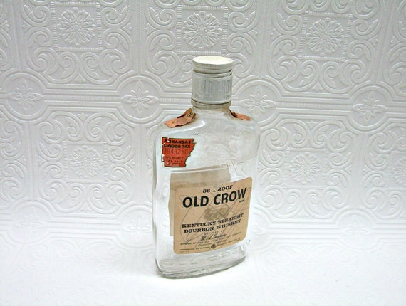 Vintage Old Crow Kentucky Straight Bourbon Whiskey Empty