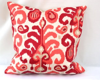 Decorative Throw Pillow, 20 by 20 inch, Duralee Suburban Fergana Ikat   (Cover only)