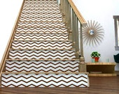 Chevron Your Stairs | Removable wallpaper | Thin Chevrons vinyl wall sticker decal | FREE SHIPPING