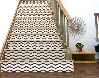Chevron Your Stairs - Removable wallpaper - wallcovering - Vinyl wall sticker decal