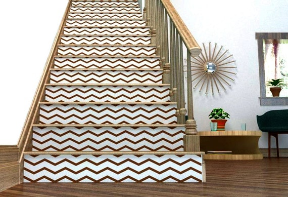 chevron your stairs removable wallpaper thin chevrons. Black Bedroom Furniture Sets. Home Design Ideas