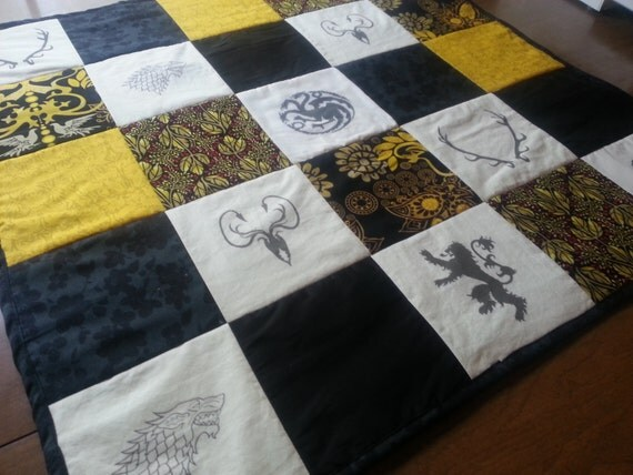 Game Of Thrones Quilt Blanket Baby Sigil Black Wall