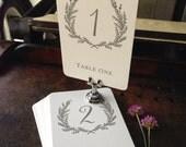 Sweet Vintage Wedding Table Number Signs 1-40 - Custom Color