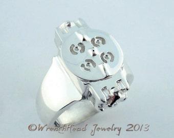 Sterling Silver Racing Carburetor Ring
