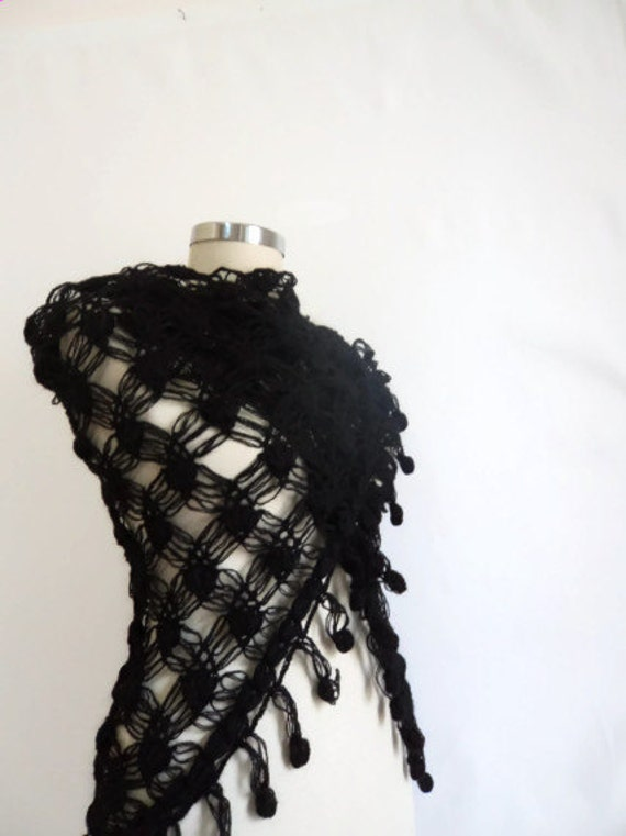 Black Shawl  scarves ,scarf,capelet,seasonal Cowl authentic Turkish LaceWork romantic stole spring weddig bride warm wrap  fashion,gift her