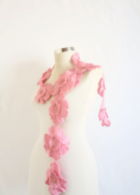 SCARVES FREE ship ,scarf,Pink  Flower  Romantic Shiny Mohair Burgundy, Claret ,Neckwarmer wedding soft discount