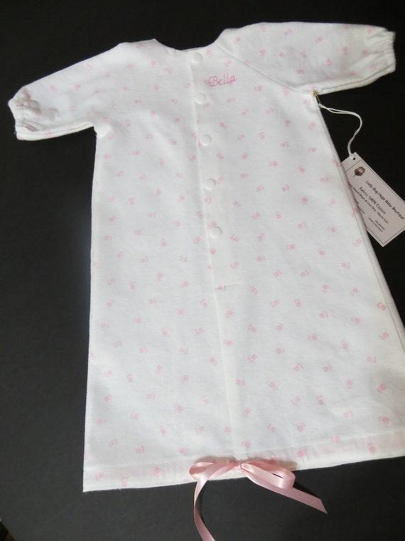 Items similar to Newborn Flannel Sleepsack Gown Set ...