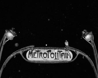 Paris Metro at Night photography print